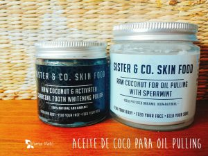 Aceite de coco para oil pulling.