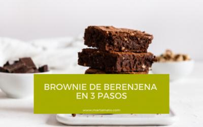 Brownie de berenjena en 3 pasos