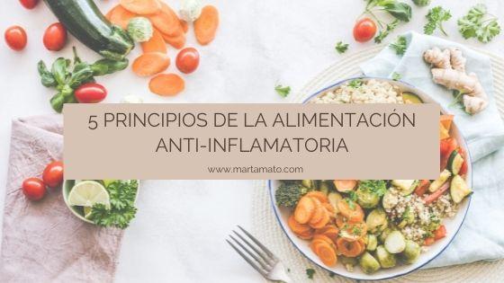 5 principios de la alimentación anti-inflamatoria
